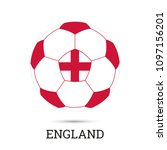 soccer ball with english... | Shutterstock .eps vector #1097156201