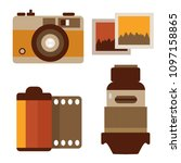 vintage photography equipment...   Shutterstock .eps vector #1097158865
