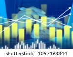 businessman on digital stock...   Shutterstock . vector #1097163344