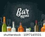 horizontal template for bar... | Shutterstock .eps vector #1097165531