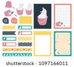 set of planner sticker vintage...   Shutterstock .eps vector #1097166011