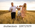 mother  daughter and grandpa... | Shutterstock . vector #109717079