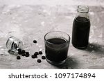activated charcoal detox cold... | Shutterstock . vector #1097174894