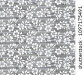 flower pattern. seamless white... | Shutterstock .eps vector #1097175491