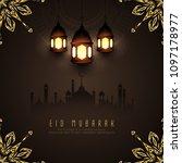 abstract eid mubarak islamic...   Shutterstock .eps vector #1097178977
