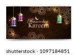 ramadan kareem  greeting... | Shutterstock .eps vector #1097184851