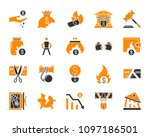 bankruptcy silhouette icons set.... | Shutterstock .eps vector #1097186501
