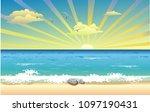 Landscape Sunrise Over The Ocean