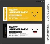 happy anniversary emoji gift... | Shutterstock .eps vector #1097192597