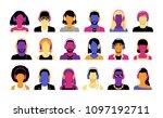 vector set of different... | Shutterstock .eps vector #1097192711