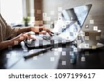 ico  initial coin offering.... | Shutterstock . vector #1097199617