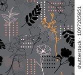 seamless pattern vector... | Shutterstock .eps vector #1097205851