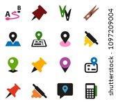 solid vector icon set  ... | Shutterstock .eps vector #1097209004