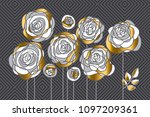 abstract decorative rose... | Shutterstock .eps vector #1097209361