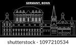 bonn silhouette skyline.... | Shutterstock .eps vector #1097210534