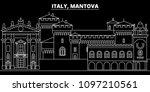 mantova silhouette skyline.... | Shutterstock .eps vector #1097210561