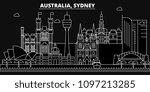 sidney silhouette skyline.... | Shutterstock .eps vector #1097213285