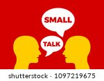 small talk   smalltalk  ... | Shutterstock .eps vector #1097219675