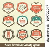 retro premium quality labels | Shutterstock .eps vector #109722047