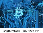 bitcoin cryptocurency concept... | Shutterstock . vector #1097225444