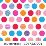 abstract seamless pattern with... | Shutterstock .eps vector #1097227001