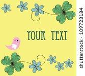 bird and flower card pattern... | Shutterstock .eps vector #109723184