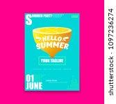 vector hello summer beach party ... | Shutterstock .eps vector #1097236274