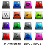 medicine vector icons in square ... | Shutterstock .eps vector #1097240921