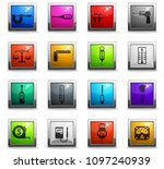measuring tools web icons in... | Shutterstock .eps vector #1097240939