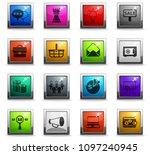 marketing vector icons in... | Shutterstock .eps vector #1097240945
