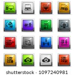 server vector icons in square... | Shutterstock .eps vector #1097240981