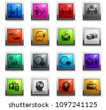 office life web icons in square ... | Shutterstock .eps vector #1097241125