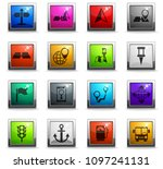 navigation vector icons in... | Shutterstock .eps vector #1097241131