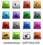 musical instruments web icons... | Shutterstock .eps vector #1097241155