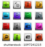 mobile connection vector icons... | Shutterstock .eps vector #1097241215