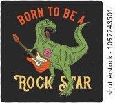 surfing theme t shirt or poster ... | Shutterstock .eps vector #1097243501