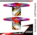 long sleeve motocross jerseys t ... | Shutterstock .eps vector #1097244641