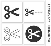 scissor icon set vector design... | Shutterstock .eps vector #1097246195