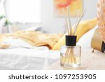 reed freshener on table in... | Shutterstock . vector #1097253905