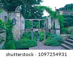 the classical courtyard and... | Shutterstock . vector #1097254931