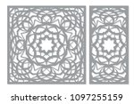 set decorative card for cutting ... | Shutterstock .eps vector #1097255159