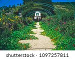 central alley to the house ... | Shutterstock . vector #1097257811