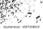 black musical notes on white...   Shutterstock .eps vector #1097258015