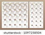 set decorative card for cutting ... | Shutterstock .eps vector #1097258504