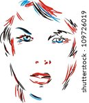 girl outline | Shutterstock .eps vector #109726019