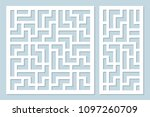 set decorative card for cutting ... | Shutterstock .eps vector #1097260709