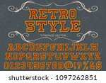 vintage retro font typeface... | Shutterstock .eps vector #1097262851