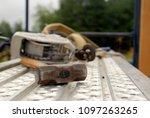 sledge hammer  come along winch ... | Shutterstock . vector #1097263265