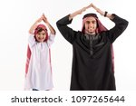 arab father and little son in... | Shutterstock . vector #1097265644