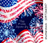 4th of july  american... | Shutterstock .eps vector #1097266547